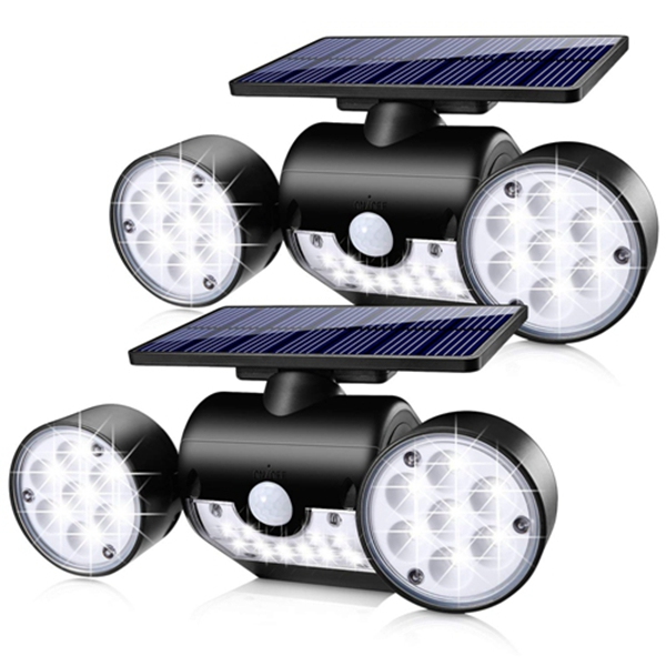 olar Lights Outdoor, Racdde 30 LED Motion Sensor Light Waterproof Solar Motion Lights Outdoor Spotlights Security Night Lights 360° Rotatable Wall Light for Yard Stairway Security Lighting (2 Pack)