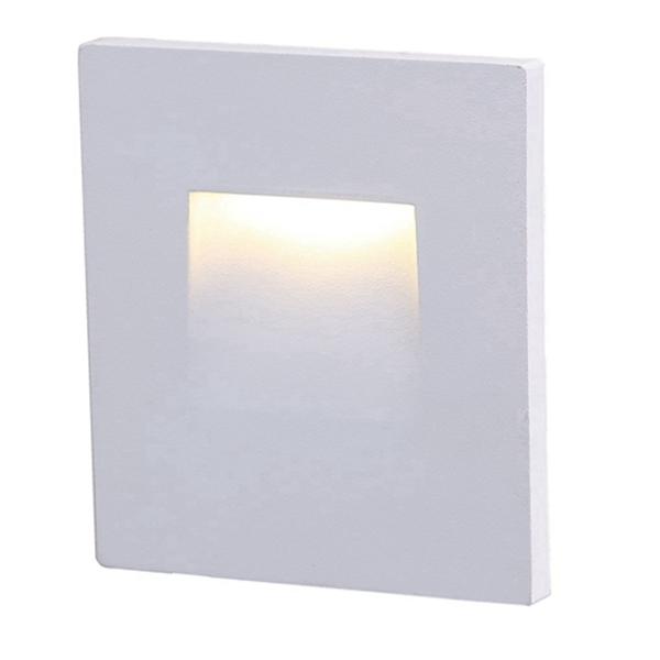 Racdde 120V LED Step Light,Vertical,3000K Warm White 3W,Stairway Stair Light,White Finish