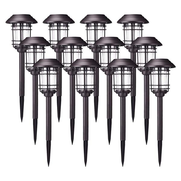 Racdde Solar Lights Outdoor Waterproof Security Lights Easy Install Garden Lights for Garden Path Walkway Light 12 Pack
