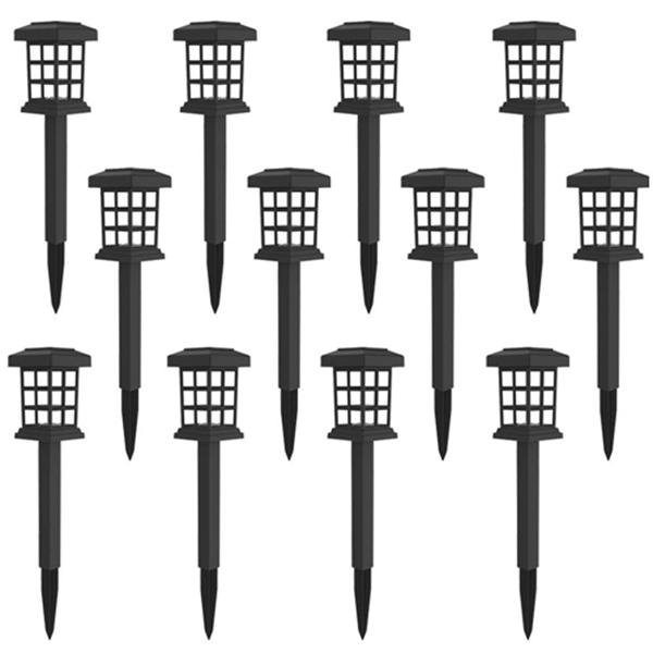 Racdde 12 Pack Solar Pathway Lights Outdoor LED Solar Powered Garden Lights for Lawn, Patio, Yard, Walkway, Driveway