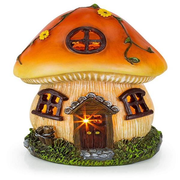 Racdde Mushroom Fairy House Solar Garden Light