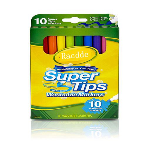 Racdde Super Tips Markers, Washable Markers, 10Count