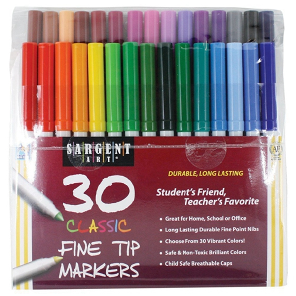 Racdde Art Classic Fine Tip Marker Pens in a Case, Set of 30 and Maybe Swearing Will Help: An Adult Coloring Book of Motivation, Puns & Cursing, Color and Laugh Your Way to Less Stress!