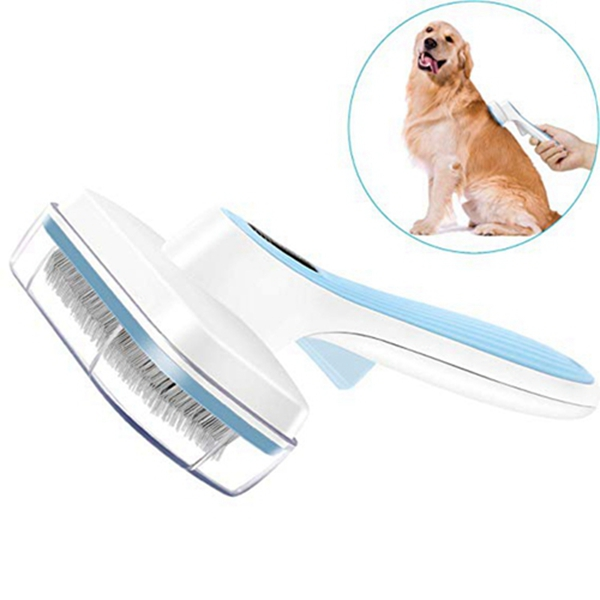 Racdde Dog Brush & Cat Brush Self Cleaning Dog Slicker Brush Easy to Clean Pet Grooming Brushes Shedding Grooming Tools for Dogs & Cats with Long or Short Hair…