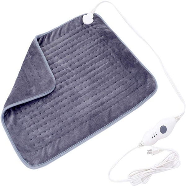 Heating Pads for Back Pain 20X24 inches Extra Large Heat Pad with Auto Shut Off 3 Temperature Setting XXL Electric Heating Pad Gray by Racdde