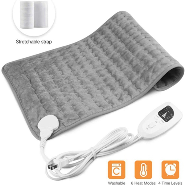 """Racdde Heating Pad,Electric Heating Pad 12""""x24"""" Large Heating Pads for Back Pain Heat Pad Moist Heating Pad with Timer,6 Temperature Settings Heated Pad for Neck,Shoulder,Elbow,Machine Washable"""
