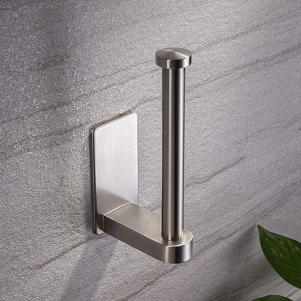Racdde Self Adhesive Toilet Paper Holder - Bathroom Toilet Paper Holder Stand no Drilling Stainless Steel Brushed