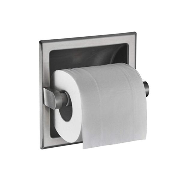 Racdde Brushed Nickel Recessed Toilet Paper Holder Wall Toilet Paper Holder Recessed Toilet Tissue Holder Stainless Steel Toilet Paper Holder Rear Mounting Bracket Included