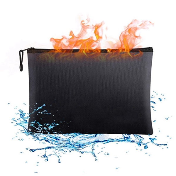 """Racdde Fireproof Document Bags,13.4""""x 9.4""""Waterproof and Fireproof Money Bag,Fire Resistant Safe Storage Pouch with Zipper for A4 Document Holder,File,Cash and Tablet"""