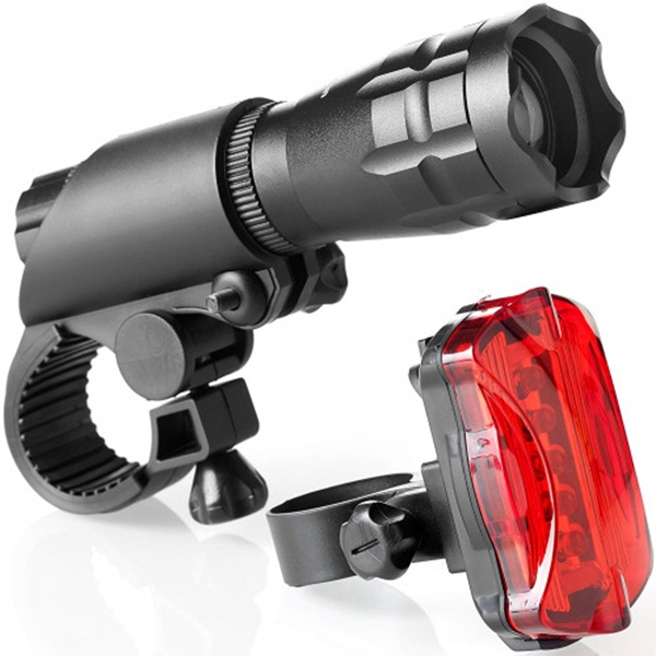 Racdde Bike Light Set - Super Bright LED Lights for Your Bicycle - Easy to Mount Headlight and Taillight with Quick Release System - Best Front and Rear Cycle Lighting - Fits All Bikes