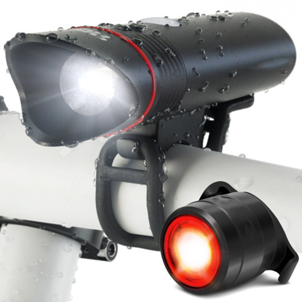 Racdde USB Rechargeable Bike Light – Headlight & Tail Light Set- Fits All Bicycles, Hybrid, Road, MTB, with Quick Release