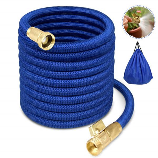Racdde Garden Hose Water Hose Expandable Garden Hose Flexible Garden Hose 50FT No-Kink Flexible Expanding Water Hose with 4 Layer Latex Core, 3/4 Solid Brass Fittings for Watering/ Washing/ Cleaning