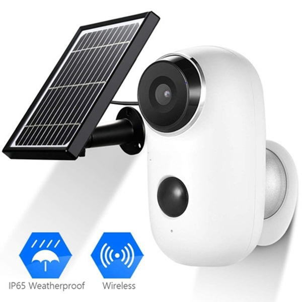 Racdde Battery Security Camera Wireless - Solar Powered IP Camera Outdoor 1080P HD Rechargeable Battery Powered WiFi Camera for Home Security, House Video Surveillance System 2 Way Audio Motion Detection