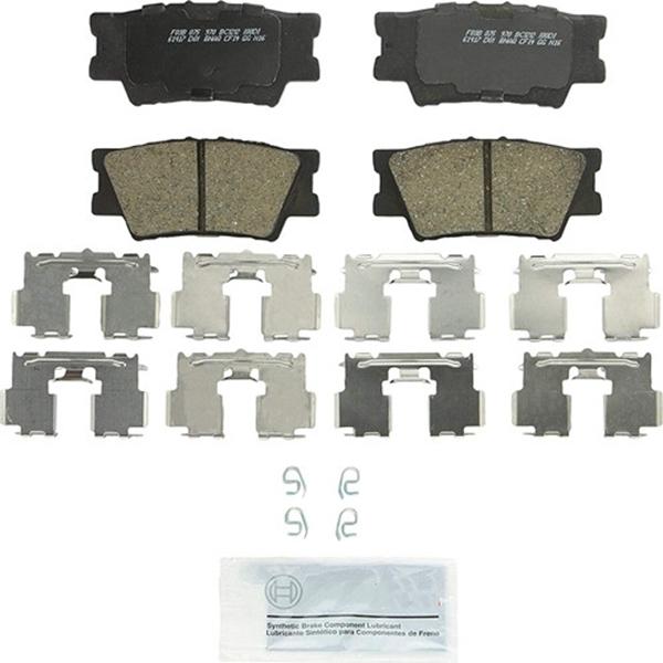 Racdde BC1212 QuietCast Premium Ceramic Disc Brake Pad Set For: Lexus ES300h, ES350, HS250h; Pontiac Vibe; Toyota Avalon, Camry, Matrix, RAV4, Rear
