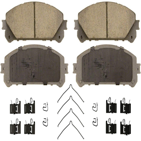 Racdde ThermoQuiet QC1324 Ceramic Disc Pad Set With Installation Hardware, Front