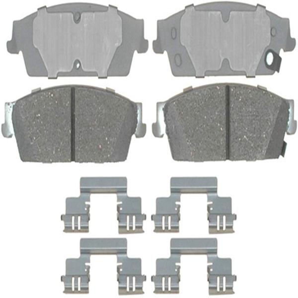 Racdde 14D1194CH Advantage Ceramic Rear Disc Brake Pad Set with Hardware