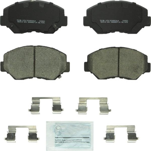 Racdde BC914 QuietCast Premium Ceramic Disc Brake Pad Set For: Acura ILX; Honda Accord, Civic, CR-V, Element, Fit, Front