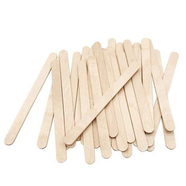 Racdde 200 Pcs Craft Sticks Ice Cream Sticks Natural Wood Popsicle Craft Sticks 4.5 inch Length Treat Sticks Ice Pop Sticks for DIY Crafts