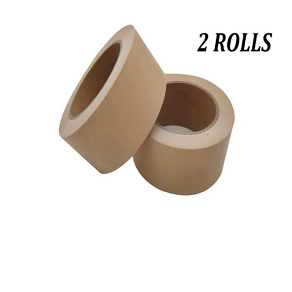 Racdde Inorganic Biodegradable Packing Tape, 2 inches x 54.6 Yards Environmental Strapping Tape for Heavy Duty Sealing Adhesive Industrial Depot Tapes for Moving Packaging Shipping, Office & Storage, 2 Rolls