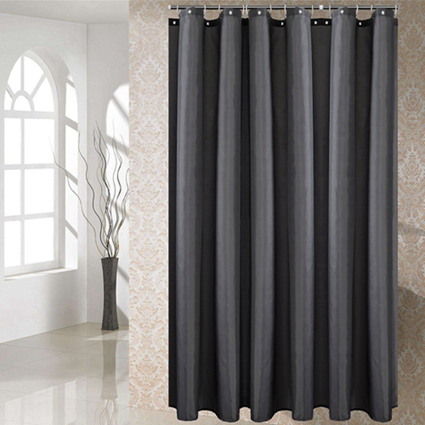 Racdde Shower Curtain Polyester Fabric Washable (Dark Grey 72x72)