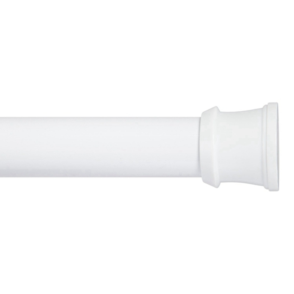 Racdde  No Tools Spring Tension Utility Rod, 24 to 40-Inch, White