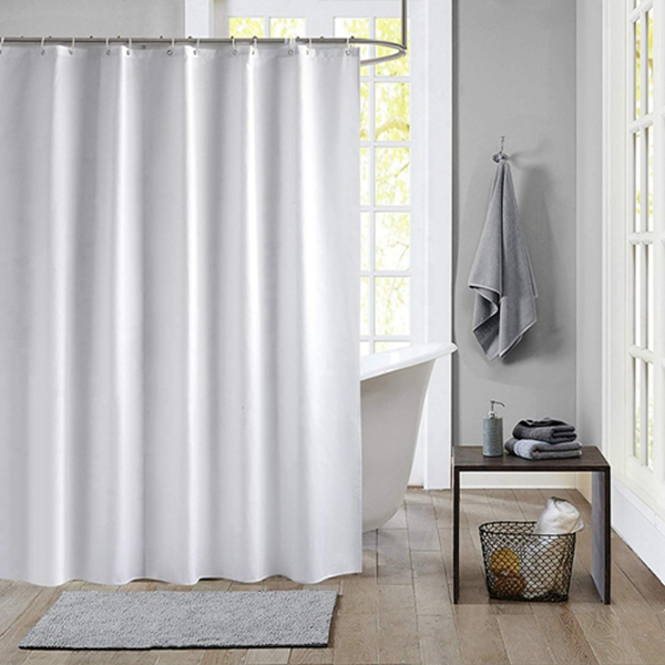Racdde Shower Curtain Polyester Fabric Waterproof Machine Washable with 12 Hooks 72x72 Inch