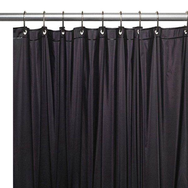 Racdde Hotel Collection Heavy Duty Mold & Mildew Resistant Premium PEVA Shower Curtain Liner with Rust Proof Metal Grommets - Assorted Colors (Black)