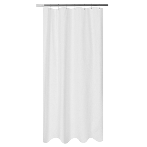 Racdde Embossed Microfiber Fabric Stall Shower Curtain Liner 36 x 72 inches,Washable and Water Repellent, White