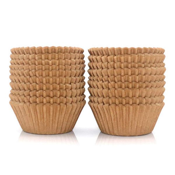 Racdde 300Pcs Cupcake Liners Natural Muffin Liners Greaseproof Paper Baking Cups Standard Size Parchment Paper Cupcake Liners for Baking Muffin and Cupcake, Natural Color