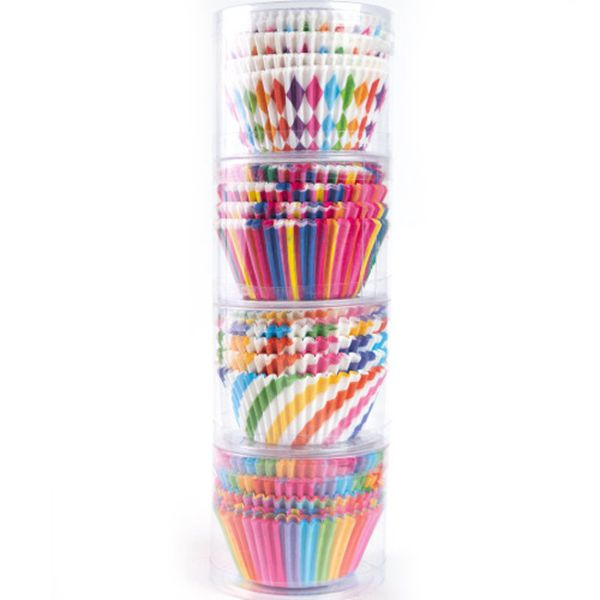 Racdde Cupcake Baking Paper Cups Muffin Cupcake Liners Colorful Rainbow Combo Disposable Baking Cups Set Standard Size,Pack of 400