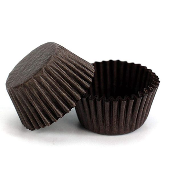 Racdde Mini Baking Paper Cup 400-Pack Brown Cupcake Liners Disposable Baking Cup Muffin Liners for Baking