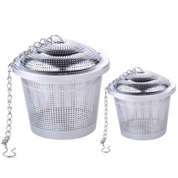 Racdde 2pcs Tea Infuser 1 Large + 1 Small Tea Filter Set Reusable Stainless Steel Tea Mug Strainers for Loose Leaf Tea
