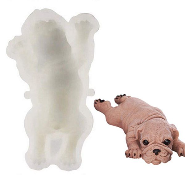 Racdde Dog Silicone Mold 3D Shar Pei Dog Mold DIY Cake Decoration Mousse mold Cute Chocolate Jelly Ice Cream Fondant Molds