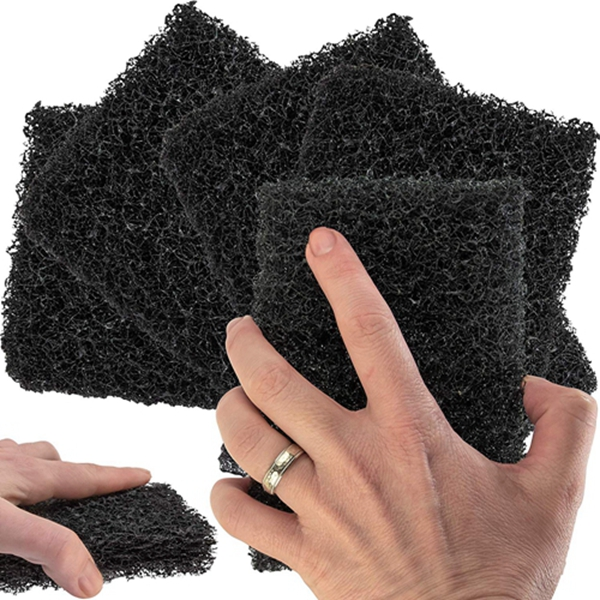 Racdde Restaurant-Grade Griddle Cleaning Pads 5 Pack. Use on Metal Grills, Cast Iron Cooktops & Stainless Steel Flat Tops. Quickly Cleans & Scours Baked-On Grease & Carbon. Heavy Duty, 46 Grit Scouring Pads.