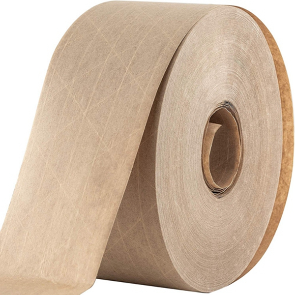 Racdde Ultra Durable Water-Activated Tape for Secure Packing. 2.75 Inch, 450 Ft Brown Kraft Gum Tape Provides Heavy Duty Adhesive for Packaging and Shipping. Fiberglass Reinforced for Extra Strong Bond