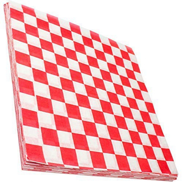 Racdde Deli Paper 300 Sheets. Turn Your Backyard Cookout Party into a Classic Drive-In with Red & White Checkered Food Wrapping Papers. Grease-Resistant 12x12 Sandwich Wrap Prevents Food Stains!