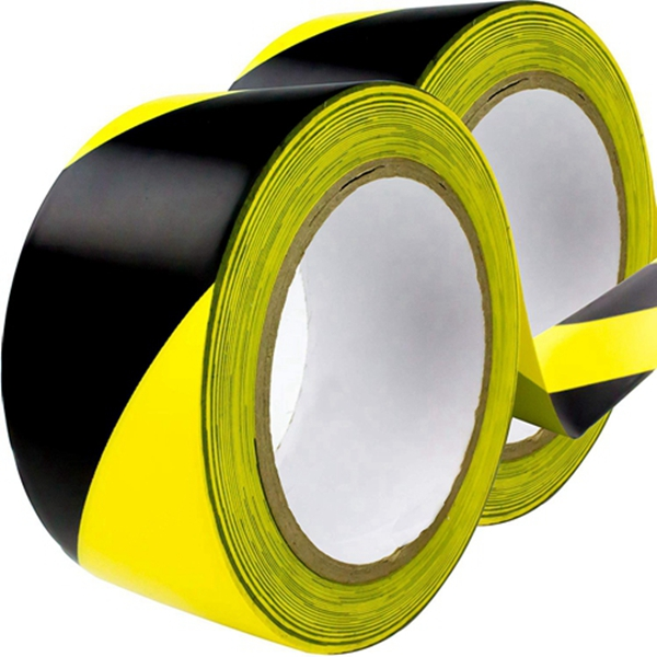 Double-Roll of Ultra-Adhesive, Black & Yellow Hazard Tape for Floor Marking 2 Pack. Mark Floors & Watch Your Step Areas for Safety with High-Visibility, Anti-Scuff Striped Vinyl by Racdde