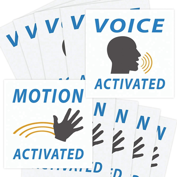 Racdde Voice & Motion Activated Prank Stickers, 50 Pack. Make Your Friends Publicly Yell & Vigorously Jazz Hand at Vending Machines & Doors. Hilarious & Unique Practical Joke. Funny Gag Gift for Huge Laughs.