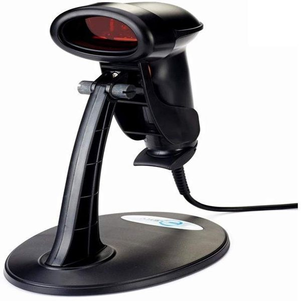 Racdde USB Automatic Handheld Barcode Scanner/Reader with Free Adjustable Stand