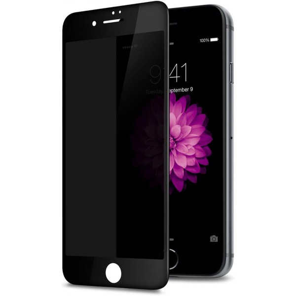 Racdde Privacy Screen Protector for iPhone 8 7 6s 6, Anti Spy 9H Tempered Glass, Edge to Edge Full Cover Screen Protector [Anti-Fingerprint] [Bubble Free] [Full Coverage] (Black)