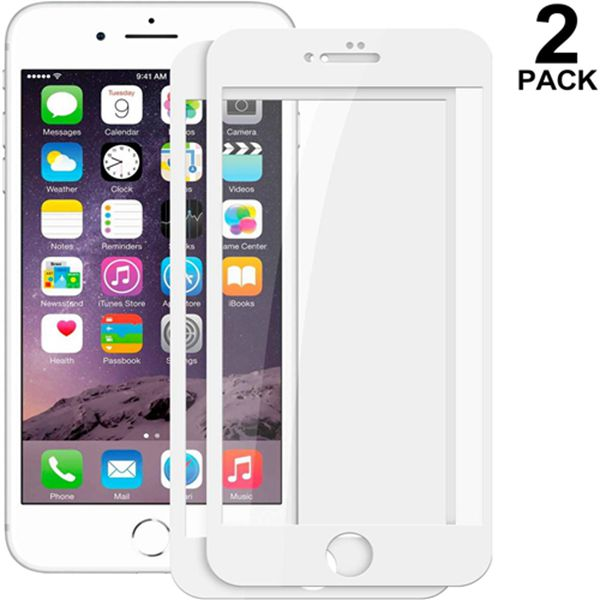 """Racdde (2 Pack) iPhone 6 Screen Protector,Angels Coming 3D Curved Tempered Glass Screen Protector Film [Anti-Bubble] [9H Hardness] [HD Clear] [Anti-Scratch] for Apple iPhone 6 (4.7"""") White"""
