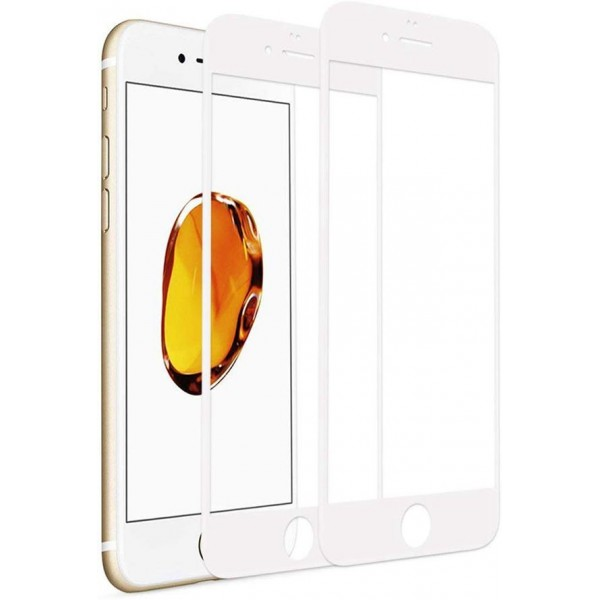 [2 Pack] iPhone 6 Plus/6s Plus Screen Protector, Racdde Tempered Glass 3D Touch Layer Full Coverage Scratch-Resistant No-Bubble Glass Screen Protector for iPhone 6 Plus/6s Plus 5.5'' (White)