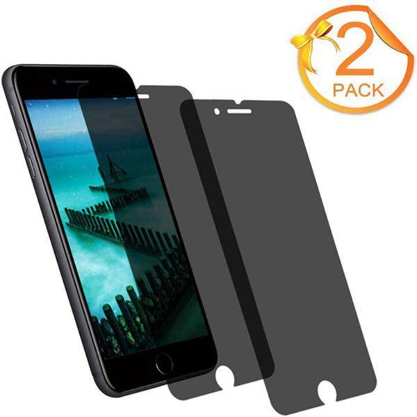 [2-Pack] Racdde iPhone 8Plus 7Plus 6Plus Tempered Glass Privacy Screen Protector [No Bubbles][9H Hardness] Compatible with Apple iPhone 8 Plus and iPhone 7 Plus and iPhone 6 Plus Privacy