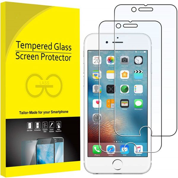 Racdde Screen Protector for Apple iPhone 6 Plus and iPhone 6s Plus, 5.5-Inch, Tempered Glass Film, 2-Pack
