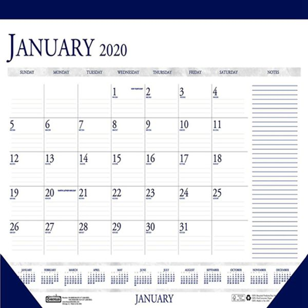 Racdde 2020 Monthly Desk Pad Calendar, Classic with Notes Section, 22 x 17 Inches, January - December (HOD164-20)
