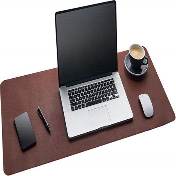 Racdde Desk Pad - Dark Brown (36 x 17) Extended Non Slip Desk Protector Premium PU Leather  - Dark Brown (36 x 17) Extended Non Slip Desk Protector Premium PU Leather