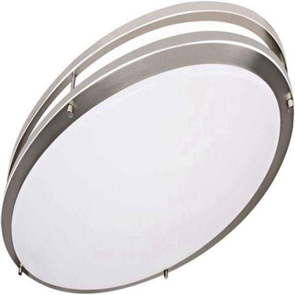 Racdde 32 Inch Oval LED Ceiling Light, 35W [300W Equivalent] 3100Lm 4000K BN Finish Dimmable Saturn Flushmount Ceiling Light for Bedroom, Restroom, Walk in Closet, Washroom, Living Room