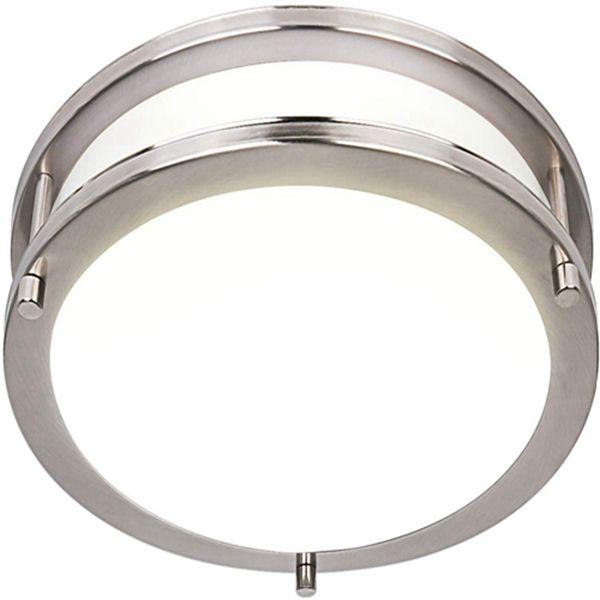 Racdde 18 Inch LED Ceiling Light, 30W [240W Equivalent] 1900lm 4000K BN Finish Dimmable Saturn Flush Mount Ceiling Light, ETL Listed for Kitchen, Bedroom, Restroom, Walk in Closet