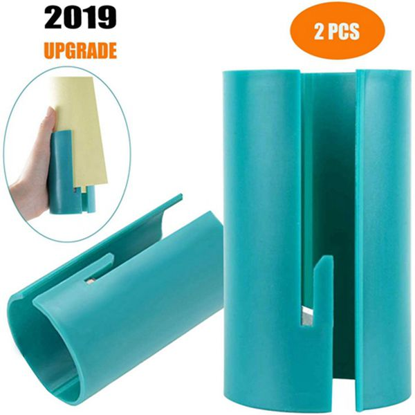 Racdde Wrapping Paper Cutter, Festival Paper Roll Cutter Tube, Gift Wrap Cutter Tools Makes Cuts in Seconds (2 Pack)