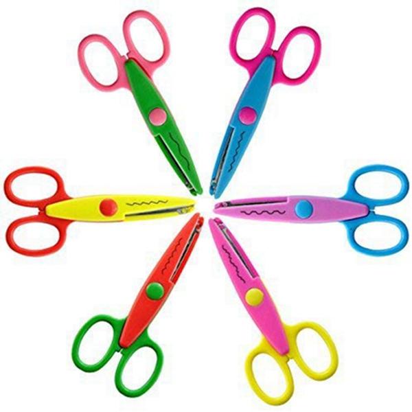 Racdde 6 Colorful Decorative Paper Edge Scissor Set, Great for Teachers, Crafts, Scrapbooking, Kids Design